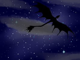 Dragon night flight by ColdBlod23