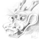 Chinese Dragon Head by Dracoe19