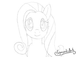 Cute Fluttershy Concept Art / Sketch by SyncedsArt