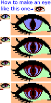 Pixel dragon/demon/vampire/monster eye tutorial by doris4u