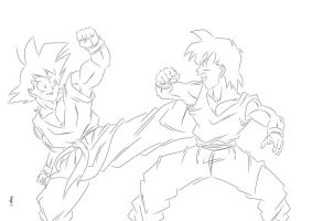 DBUC: Father Son Sparring by darkhawk5