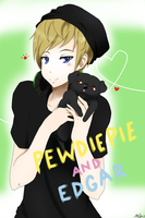 Pewdiepie and Edgar by Pink-Scribble