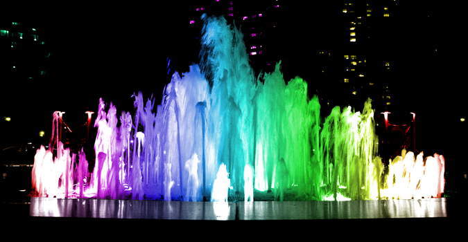 Water Fountain Rainbow Wallpaper by ryanr08