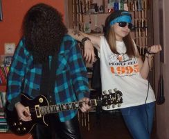 Axl and Slash by TriciaAdder