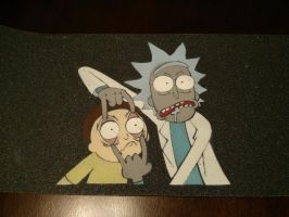 Rick and Morty Stencil by the-ovin
