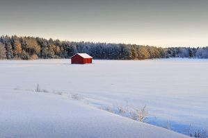 A red barn by eswendel