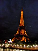 Eiffel Tower at Night by Lady-Kathryn