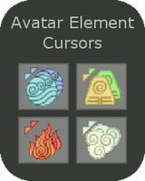 Avatar Element Cursors by the-rose-of-tralee