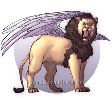 Winged Lion by IzaPug