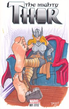 Thor Sketch Cover by Parabolastar