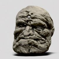 Golem Head by justsantiago