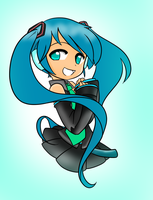 Miku Hatsune Colored by AnimeGurl1012