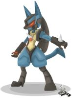 Cyber Lucario by IqbalPutra