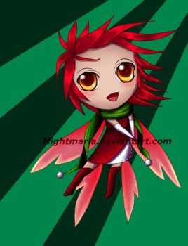 Poinsettia fairy adopt: OPEN! Cash or points! by Nightmaria