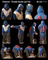 Totodile Hoodie Style and Tail by LiliNeko