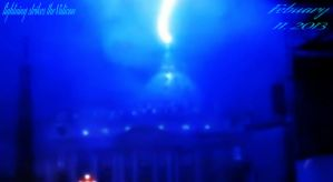 Lightning Strikes Vatican 2013 by guitarbri