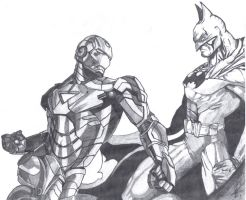 Ironman vs Batman by Brucedreamer
