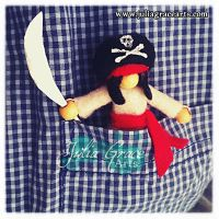 Pirate Captain Pocket Doll - In Pocket by JuliaGraceArts