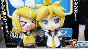 Rin and Len Nendroids by Rhythmn