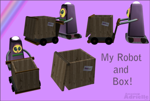 Bot and crate by Amazinadrielle