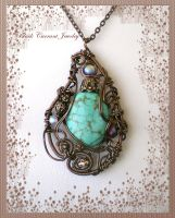 Turquoise Pendant by blackcurrantjewelry