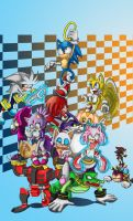 sonic's 20th anniversary by YeyeiAlba