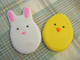 Easter cookies by Kiilani