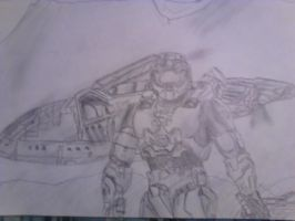 Master Chief  sketch- At the R.Z by Trollestia-IV