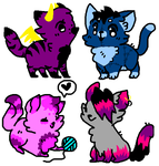 10 point cat adopts (3/4 open) by RE4-epicness-4-me