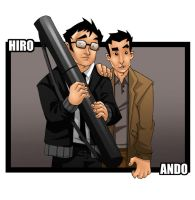 Hiro and Ando by Paranoidvin