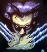 WOLVERINE AIRBRUSHED by javiercr69
