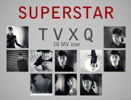 TVXQ Superstar - 10 PV icon BW by e11ie