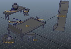 Egyptian Furniture from Maya by DaBrandonSphere