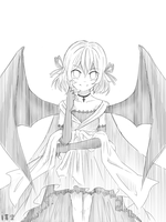 Simple Sketch for my Visual Novel - Remilia by iAozora