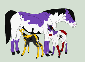 Violet and Her Foals by WahyaMiakoda