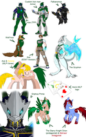 Just a few of my many OCs by Arc-Caster135
