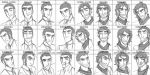 Expression Sheet: Silas by Cat-Bat