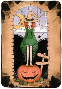 The Pumpkin Witch by ladymistrel