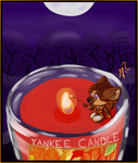 Autumn Leaf Candle by Angeltsuki-Chan