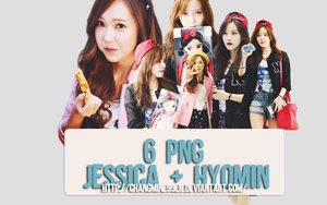 6 PNG Jessica + HyoMin [Free] by ChangMine99er