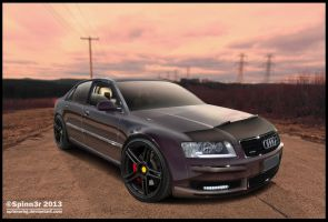 Audi A8 on 360 Forged Wheels by Spinn3r ~ by SpinnerBG