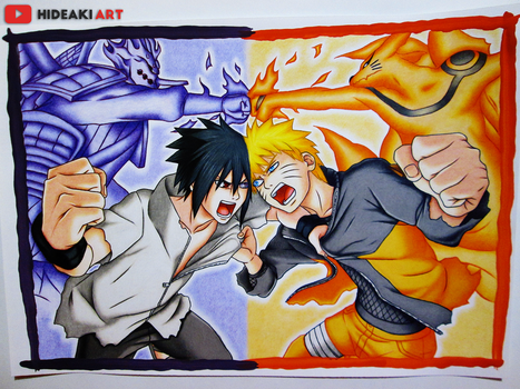 Naruto vs Sasuke Final Battle | Naruto: Shippuuden by HideakiArtReal
