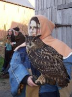 Lady with Owl by Saabii