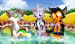 Water Fun with Weasels by Adamiro