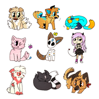 Chibi Requests batch by Aeroska