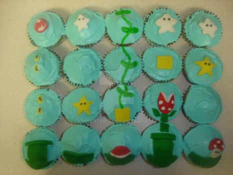 Mario cupcakes by iheart8bit