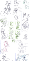 Biweekly School Sketches 7 by FrostheartIsSiamese