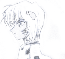 Rei Ayanami Side sketch by romansiii