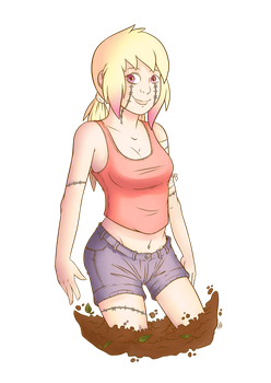 Commission - Zombie Gal by Raph13th