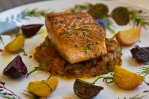 Salmon with Tomato Compote by ThomasVo